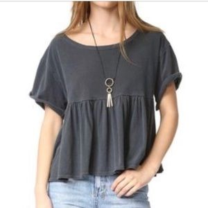 Free People Babydoll Tee